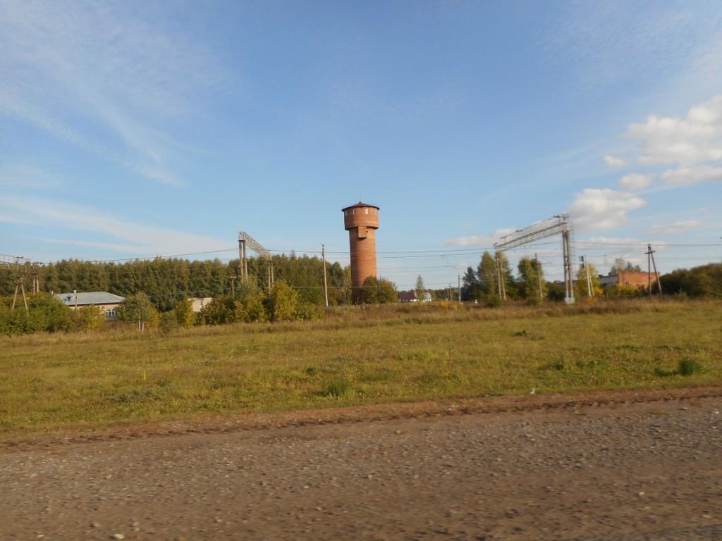 Водонапорная башня по объездной вокруг Уфы по трассе М5 Урал.
