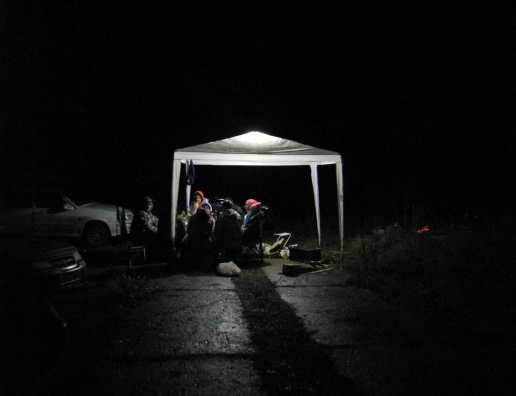 Лагерь решили разбить в подножья горы Таштау