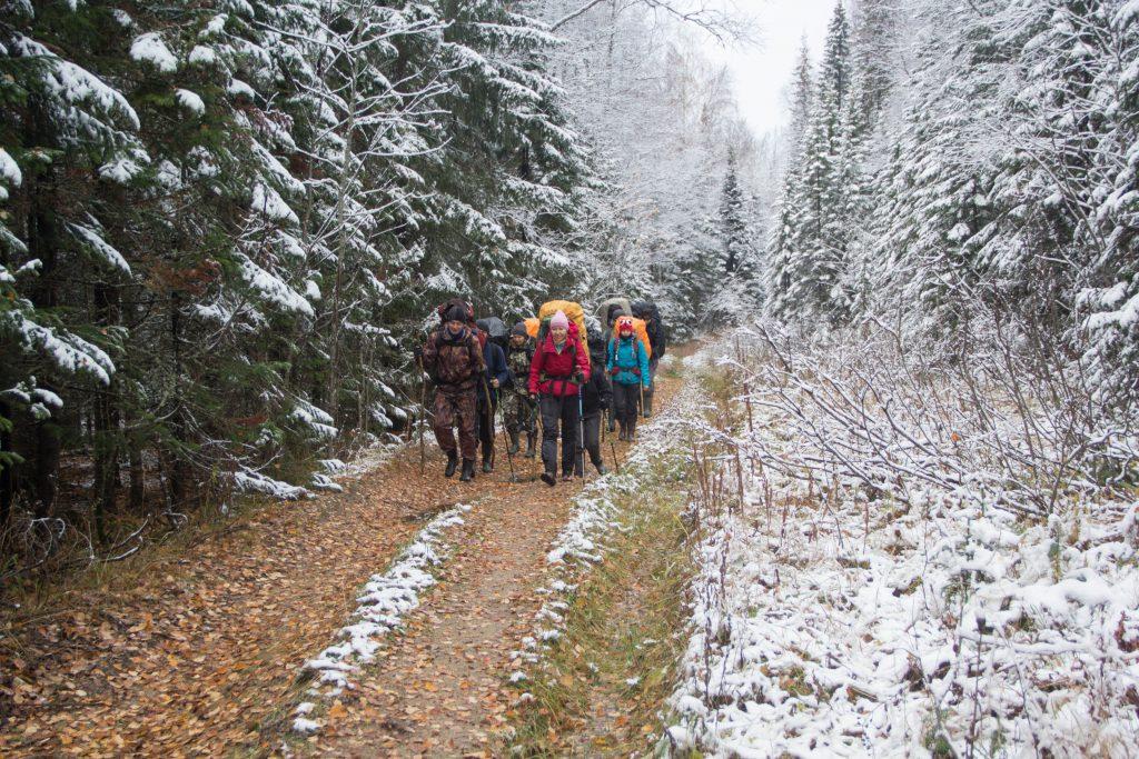 Движение группы после перевала через Уральский хребет.