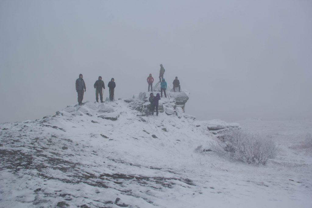 г. Дальний Таганай, участники группы на высоте 1099 м.