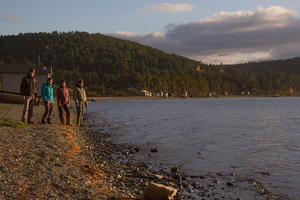 Поселок Тургояк, пляж озера Тургояк.
