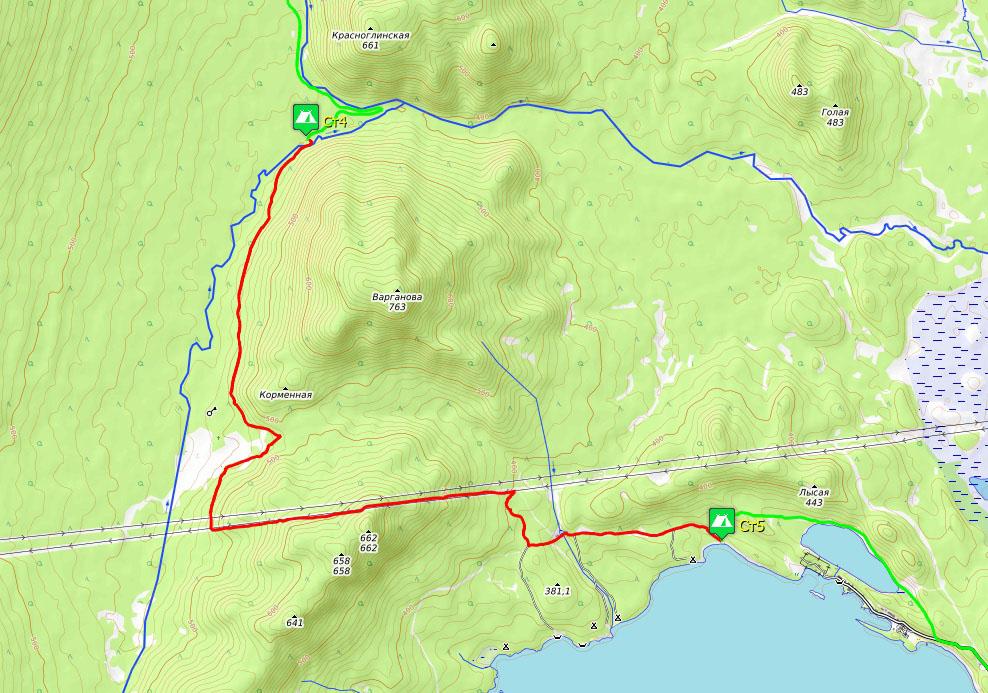 Схема маршрута 5-го дня: г. Красноглинская – озеро Тургояк
